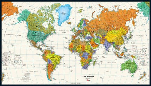 Tyvek World Map