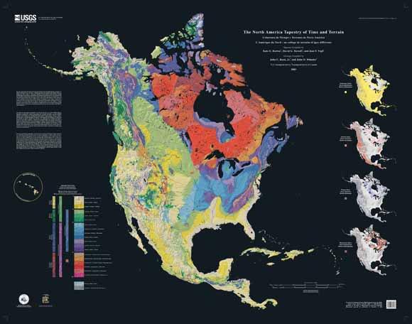 North America Geologic Map