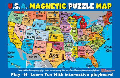 US Magnetic Puzzle Map for Kids