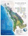 Cascadia Area Wall Map