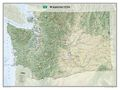 Washington State Wall Map by National Geographic