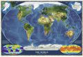 World Satellite Mosaic Map by National Geographic