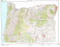 Oregon Topographic Wall Map by USGS