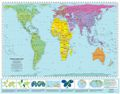 Peters Equal Area Projection World Map