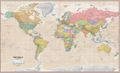 Antique Style World Wall Map by ITM