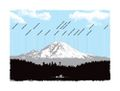 Mt. Rainier Profile Poster by Powerslide