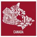 Canada Typography Map
