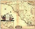 Antique Map of Carolinas 1682