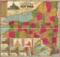 Antique Map of New York State 1896