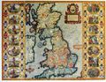 Antique Map of Britain 1611