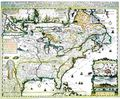 Antique Map of New France 1719