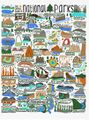 National Parks Icons Poster l One Lane Road