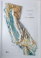 California Raised Relief Map (Raven colors)