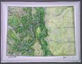 Colorado Raised Relief Map by Hubbard