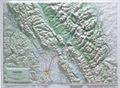 Glacier National Park Raised Relief Map