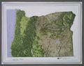 Oregon Raised Relief Map