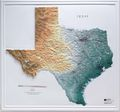 Texas Raised Relief Map (Raven colors)