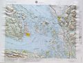 Victoria Raised Relief Map