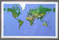 World Raised Relief Map - NCR Series