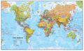 Huge Blue Ocean Political World Map