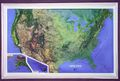 USA Raised Relief Map - Medium by Kistler