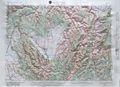 Grangeville Raised Relief Map
