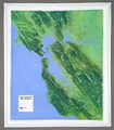 San Francisco Bay Raised Relief Map
