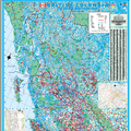 British Columbia Wall Map