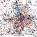Portland ZIP Code Map, Metro Area