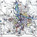 Portland Metro Arterial Wall Map