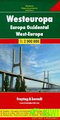 Western Europe Map by Freytag & Berndt