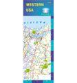 Western U.S. Laminated Road Map