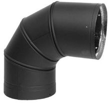Amerivent Black Pipe 90 Degree Elbow