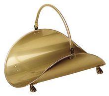 Antique Brass Plated Log Basket