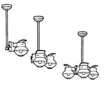 Kit For Mounting Gaslight To Ceiling