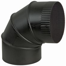 Black Adjustable Stove Elbow