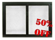 Shaker Glass Fireplace Door - ALL 50% OFF