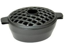 Small Black Lattice Stove Steamer