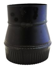 Stove Pipe Black Increasers/Reducers - Large End Crimped