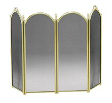 Solid Brass Fireplace Screen