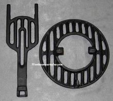 Round Dump Stove Grate and Slide 10-1/2