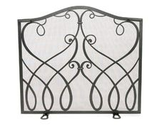 Flat Cypher Fireplace Screen - Graphite