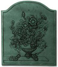 Fireplace Cast Iron Bouquet Fireback