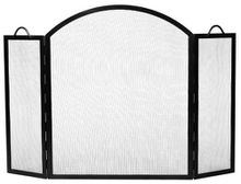 Arched Top Twisted Rope Fireplace Screen