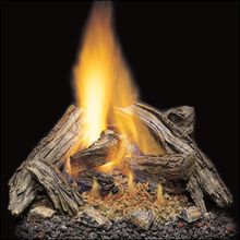 Split River Oak Vented Gas Logs