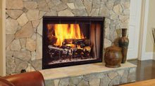 Designer Wood Burning Fireplace