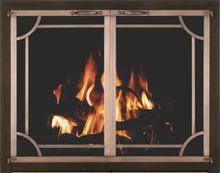 Original Iron Fireplace Doors