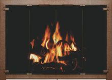 Bar Iron Rectangle Fireplace Doors