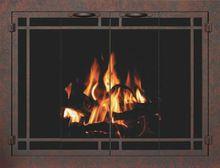 Bar Iron Inset Fireplace Doors