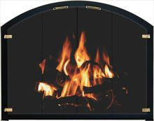 Bar Iron Arch Fireplace Door